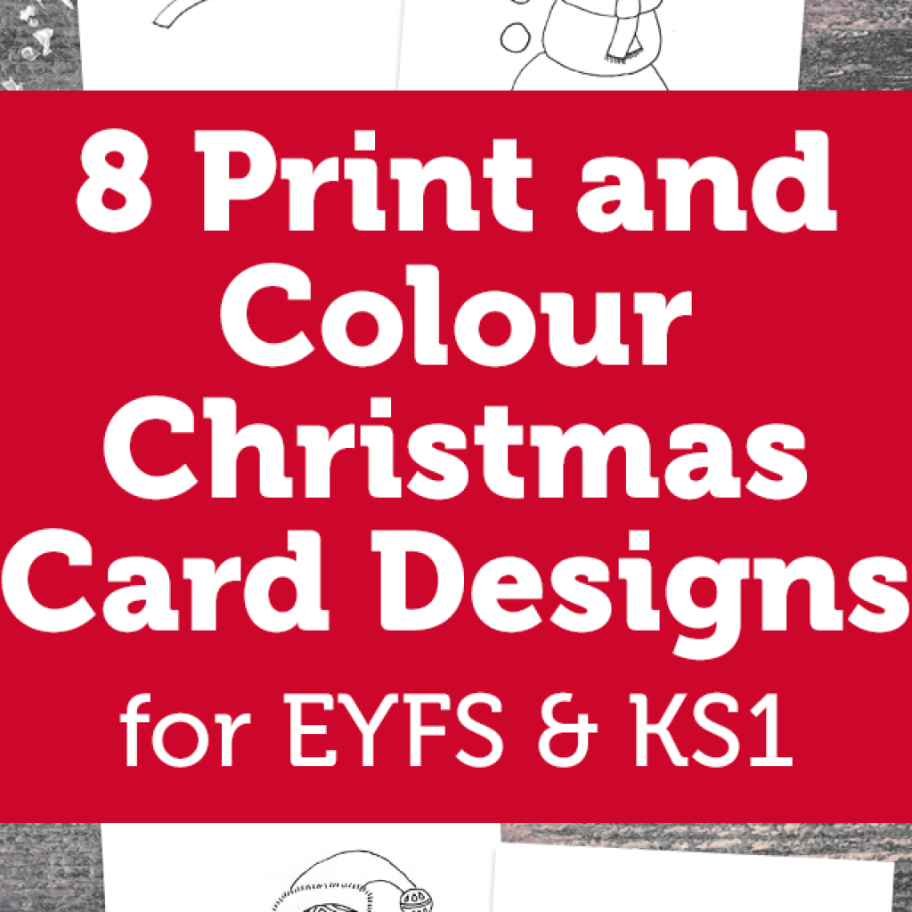 Christmas Colouring Pages Ks2 With 8 Print And Colour Card Designs Early Years Foundation