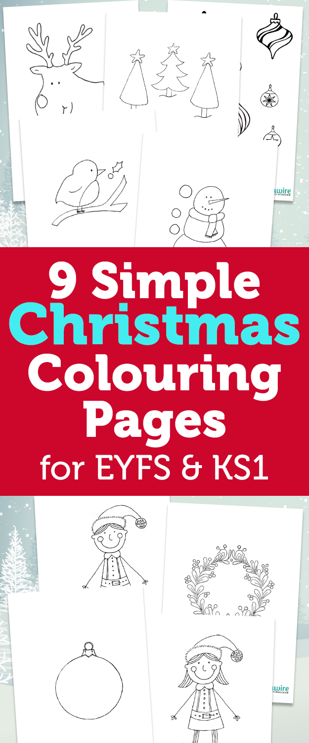 Christmas Colouring Pages Ks2 With 9 Simple Early Years Foundation Stage