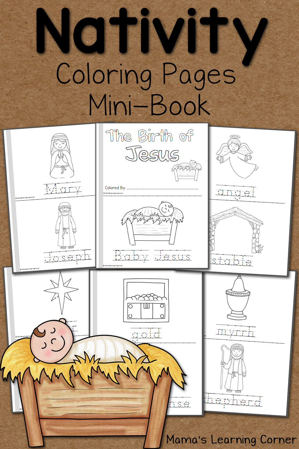 Christmas Colouring Pages Mary And Joseph With Nativity Coloring Mamas Learning Corner