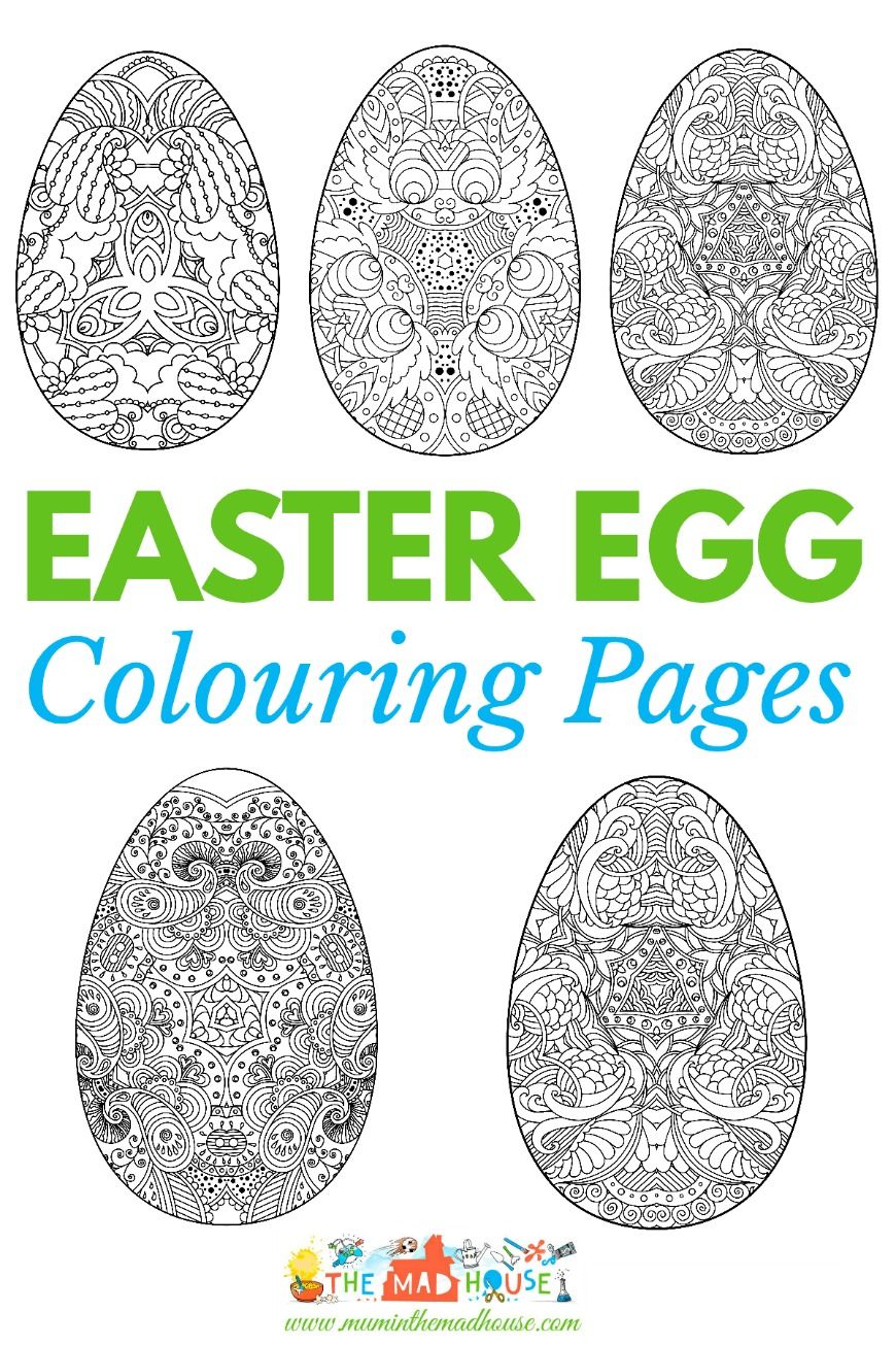 Christmas Colouring Pages Mindfulness With Adult Easter Intricate Eggs Mum In The Madhouse