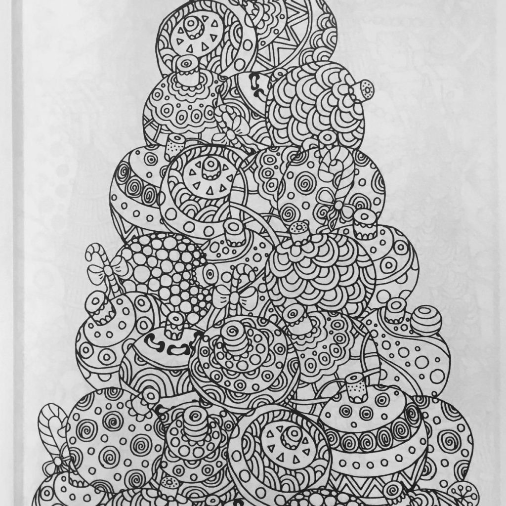 Christmas Colouring Pages Mindfulness With Coloring Book A Stress Management For