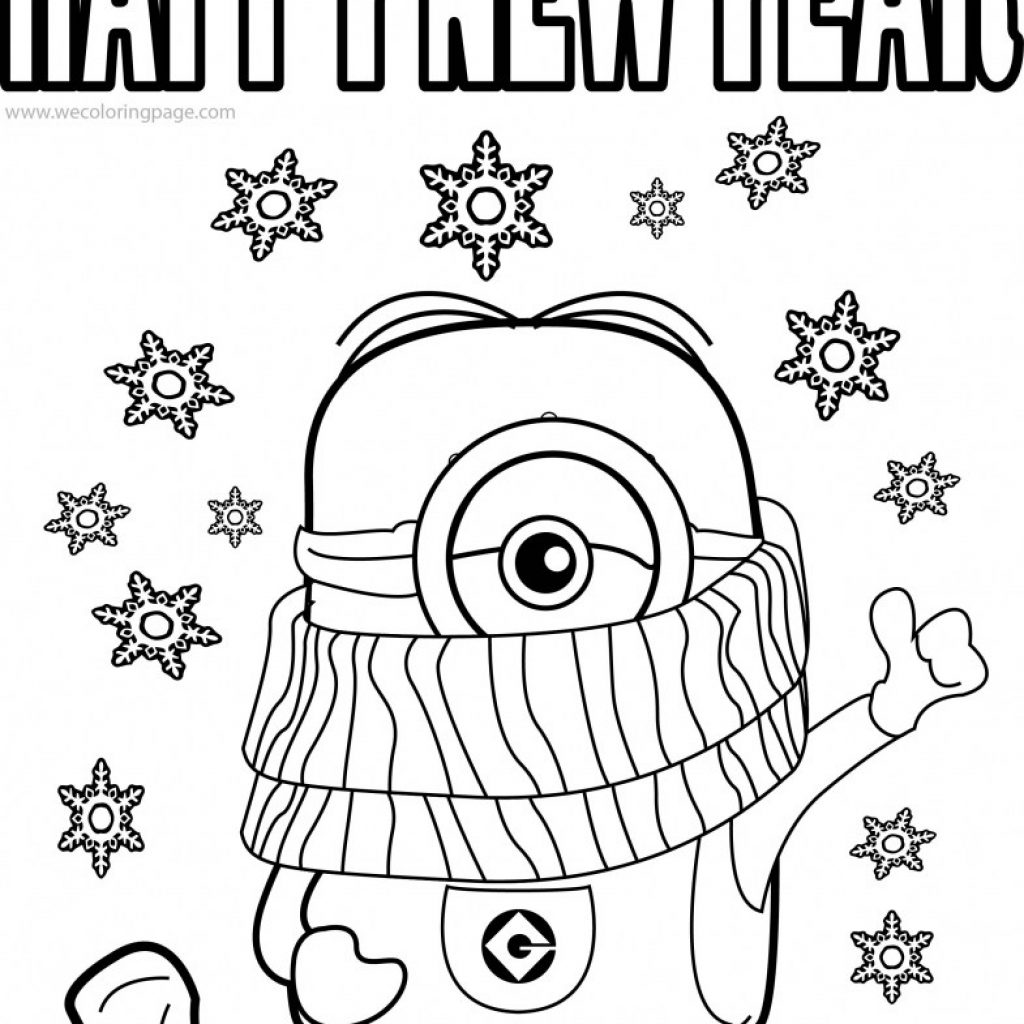 Christmas Colouring Pages Minions With Minion Coloring Printable Page
