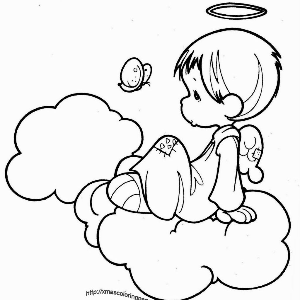 Christmas Colouring Pages Tes With Coloring Angels Pinterest Angel