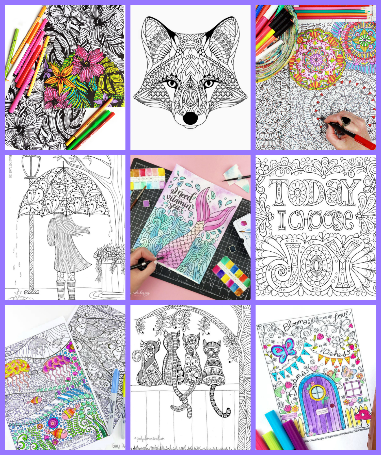Christmas Colouring Pages Tes With FREE Adult Coloring Happiness Is Homemade