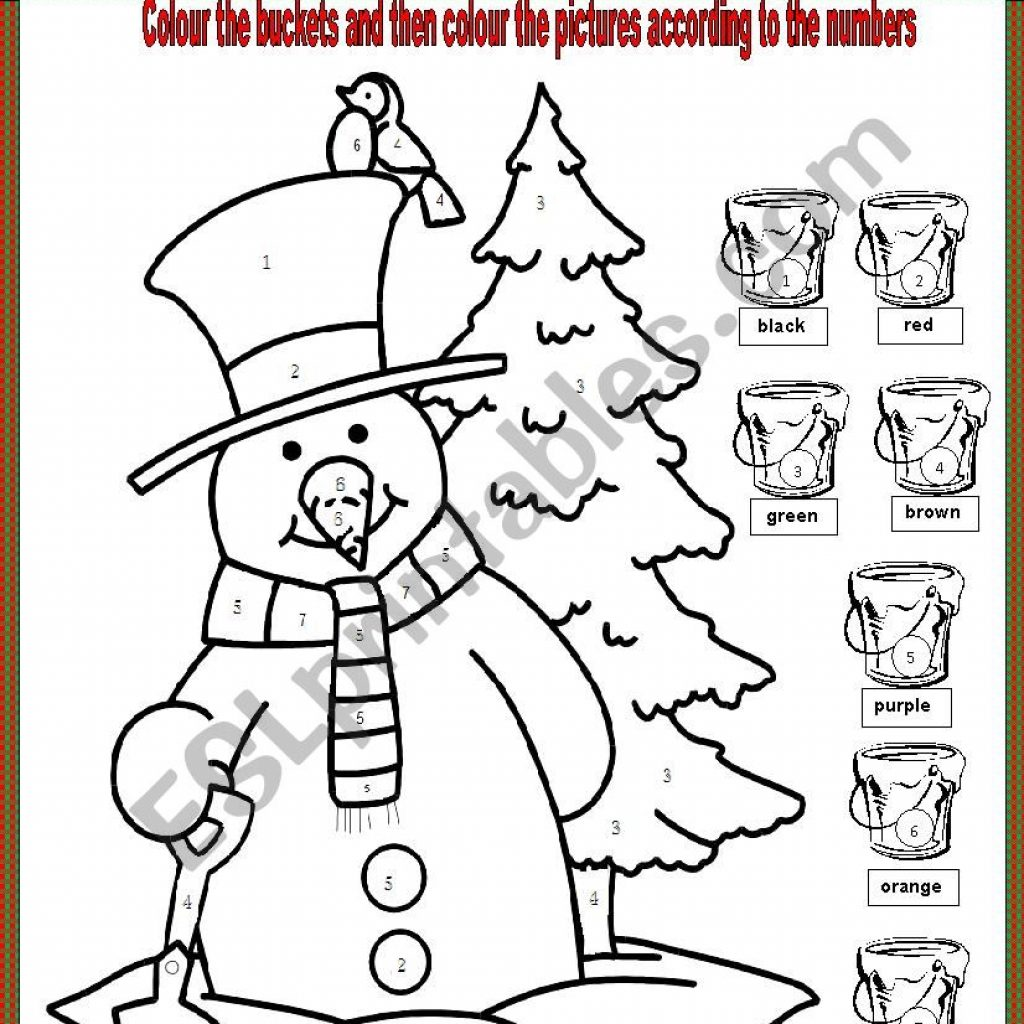 Christmas Colouring Pages Tes With Merry Worksheet ESL By