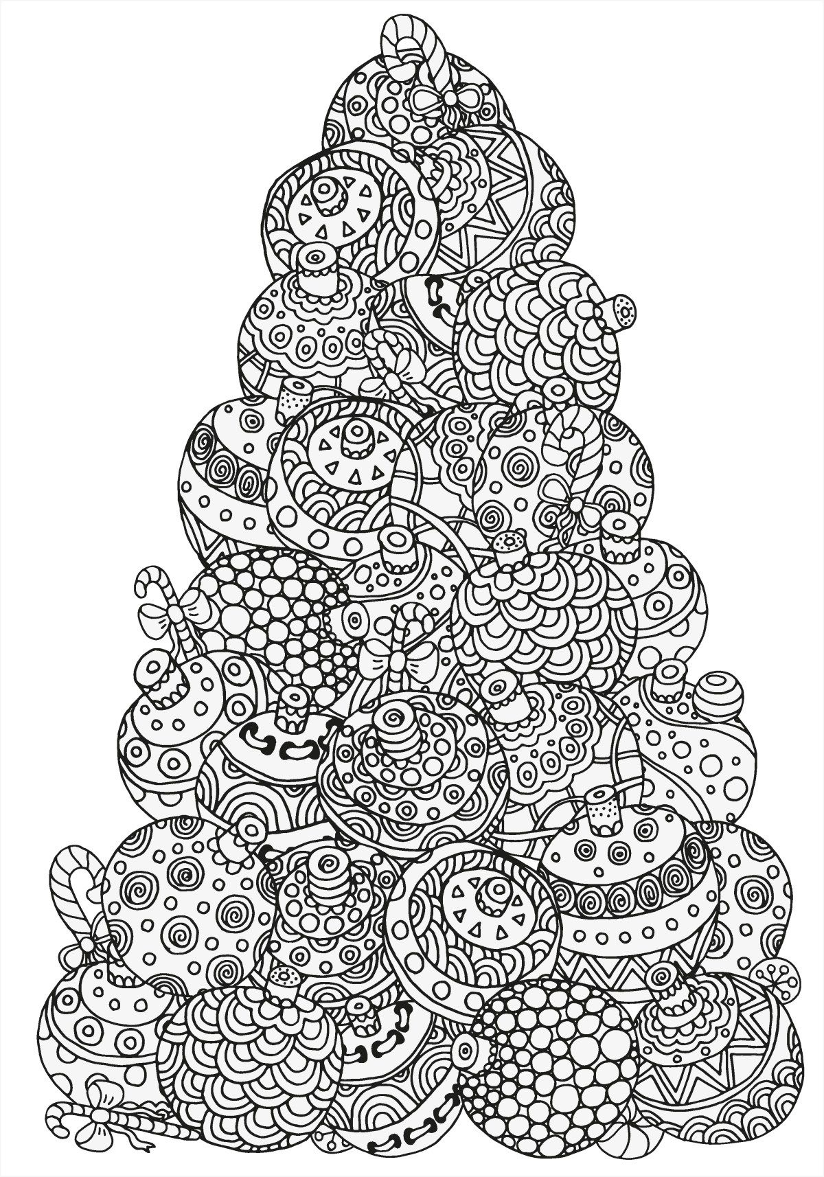 Christmas Colouring Pages Tree With 5 Absolutely Free Beautiful Coloring