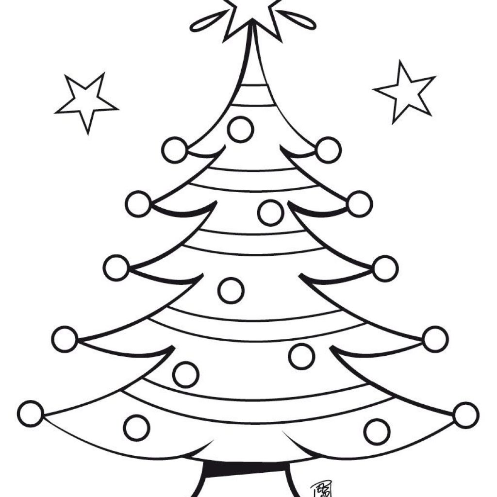 Christmas Colouring Pages Tree With Coloring