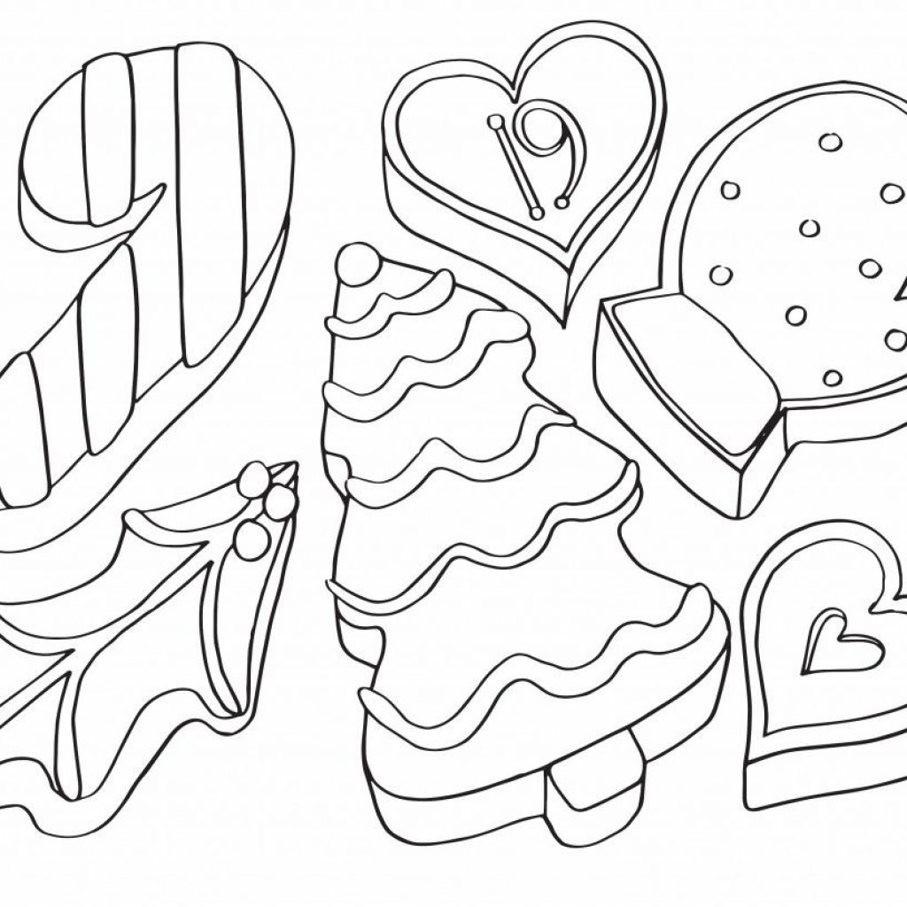 Christmas Cookie Coloring Pages With AdventCalendar 19 Cookies Is Cool Pinterest Advent