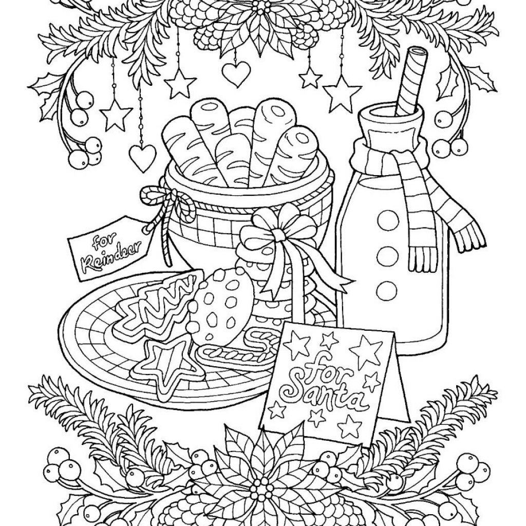 Christmas Cookie Coloring Pages With Cookies Page Color Pinterest