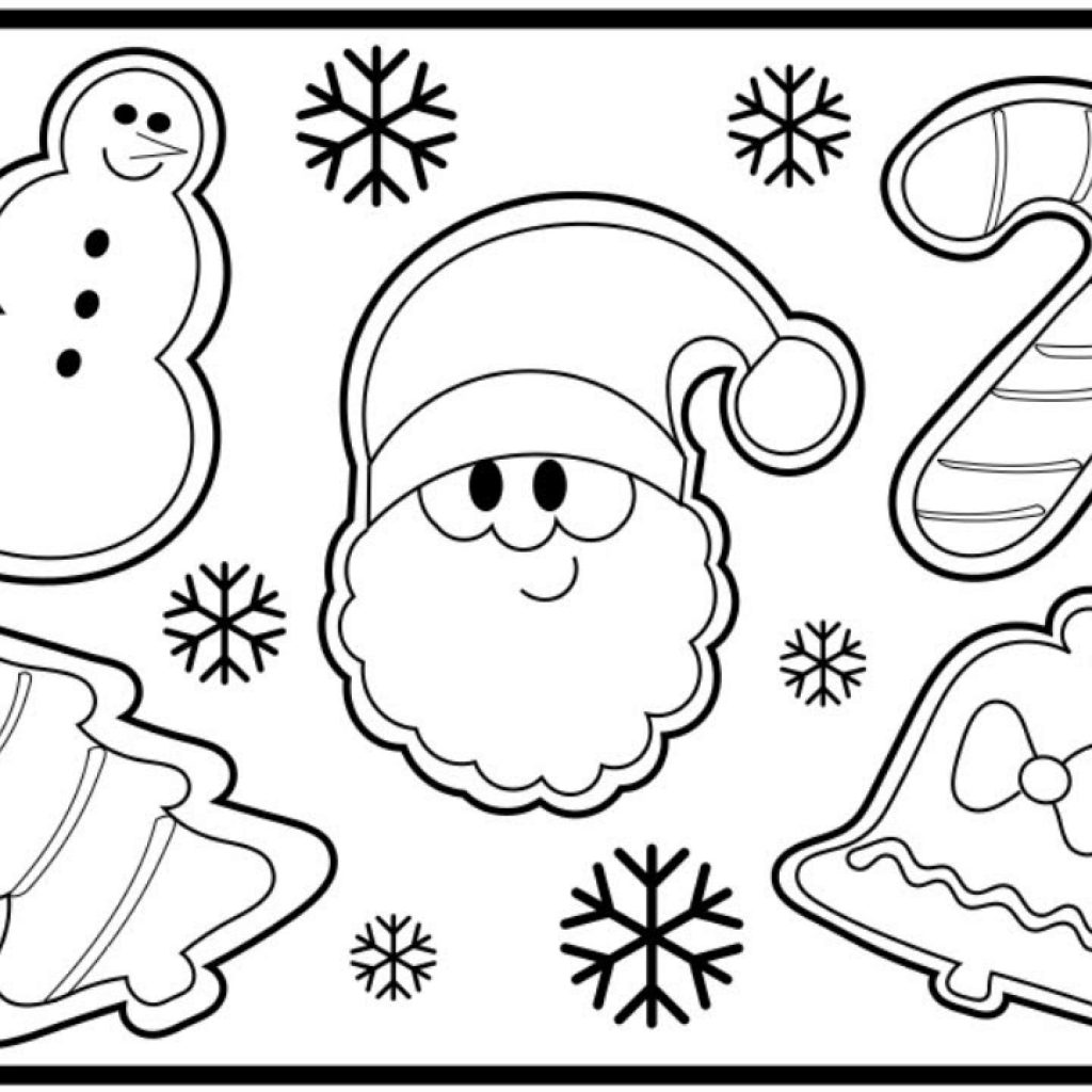 Christmas Cookie Coloring Pages With How To Draw CHRISTMAS COOKIES Step By For Kids Santa S Face