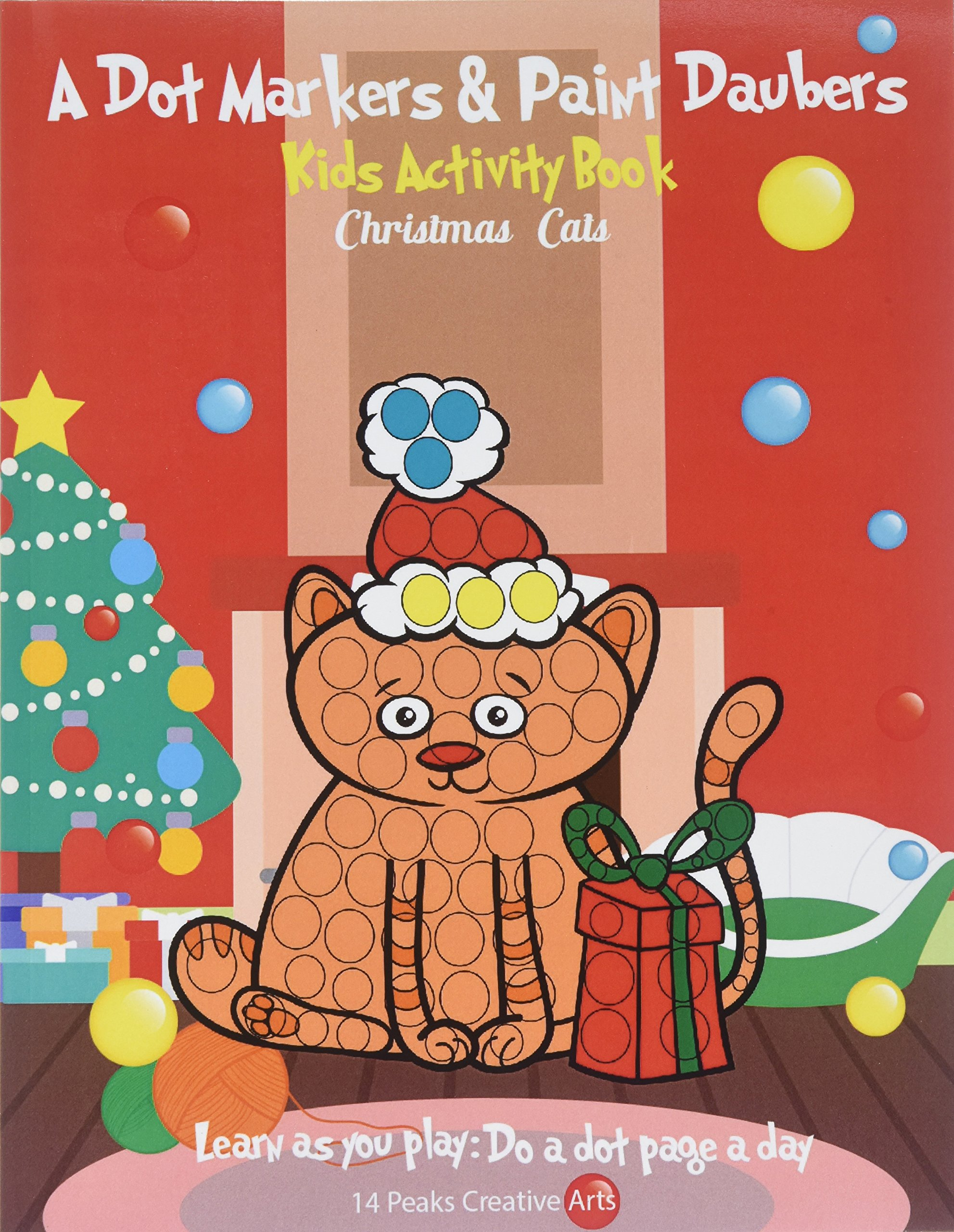 Christmas Dauber Coloring Pages With A Dot Markers Paint Daubers Kids Activity Book Cats