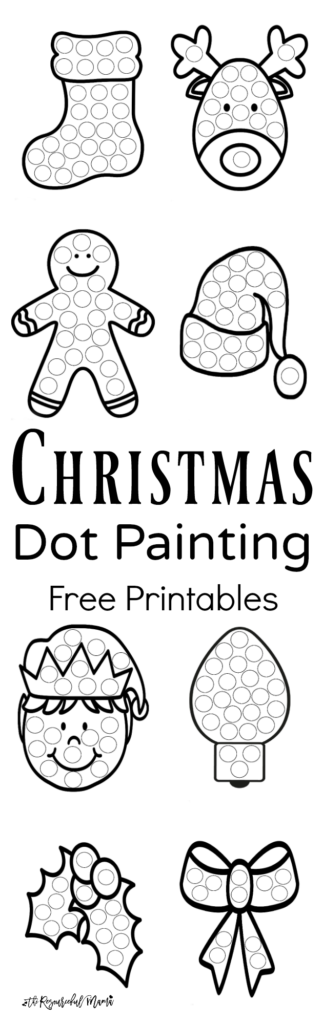 Christmas Dauber Coloring Pages With Dot Painting Free Printables The Resourceful Mama