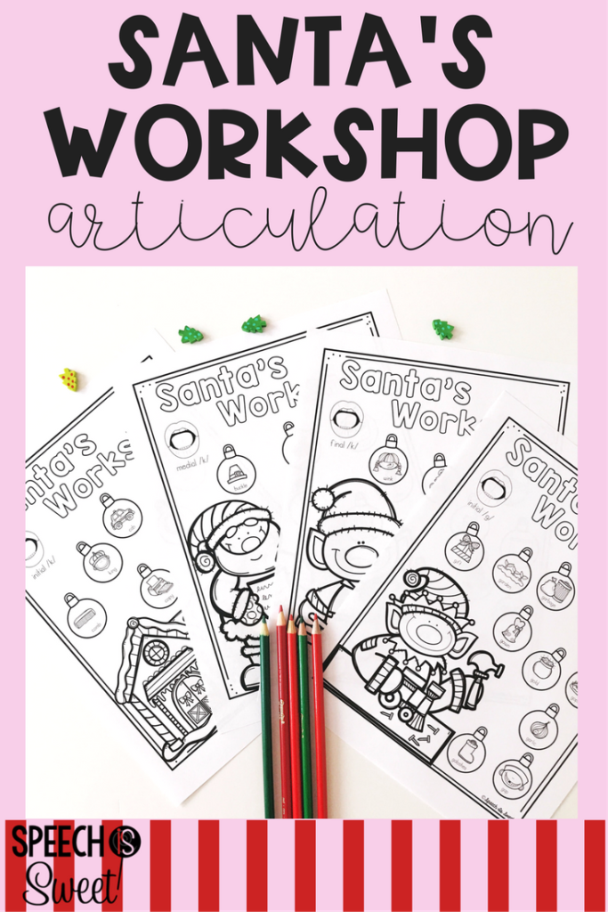 Christmas Dauber Coloring Pages With Santa S Articulation Workshop Speech Language Therapy Ideas