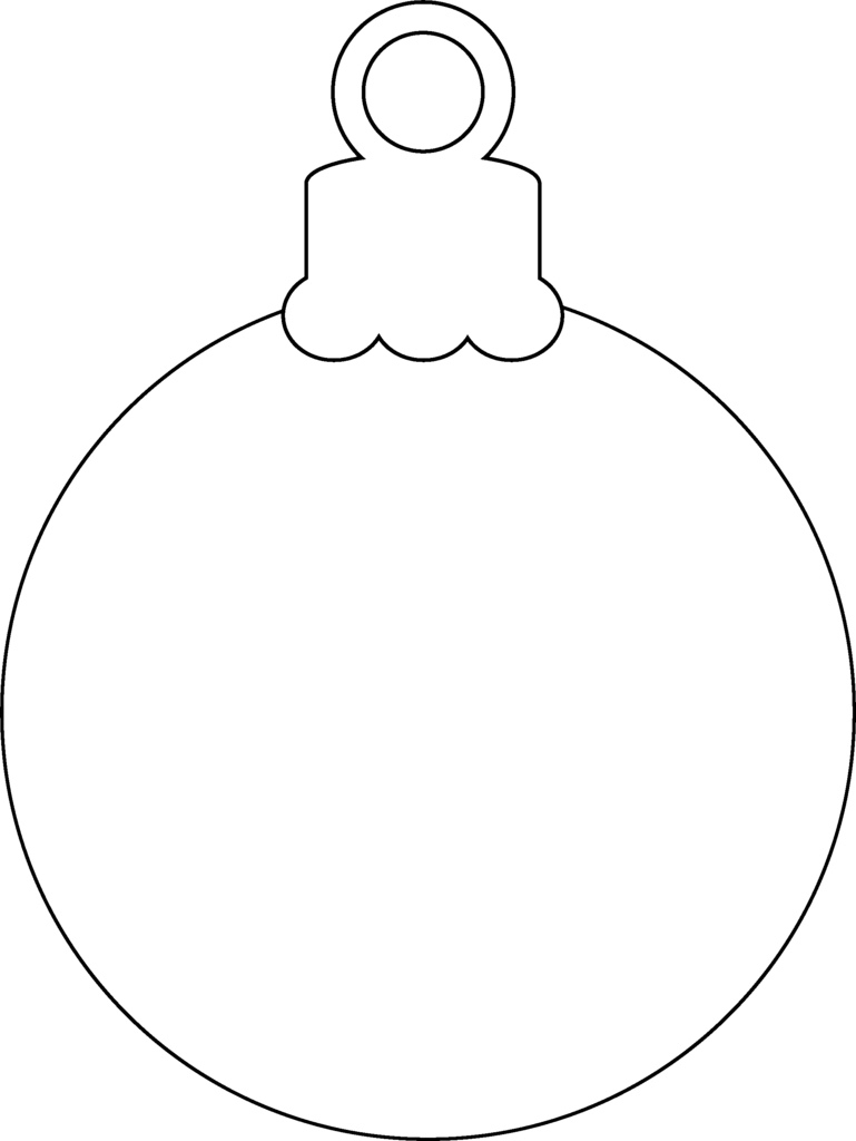 Christmas Decorations Coloring Pages With Ornaments Print Ornament