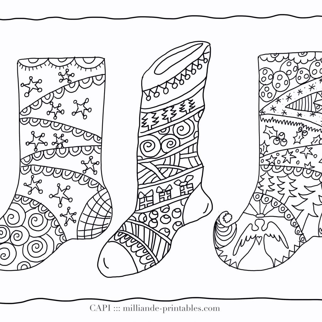 Christmas Detailed Coloring Pages With For Adults Printable