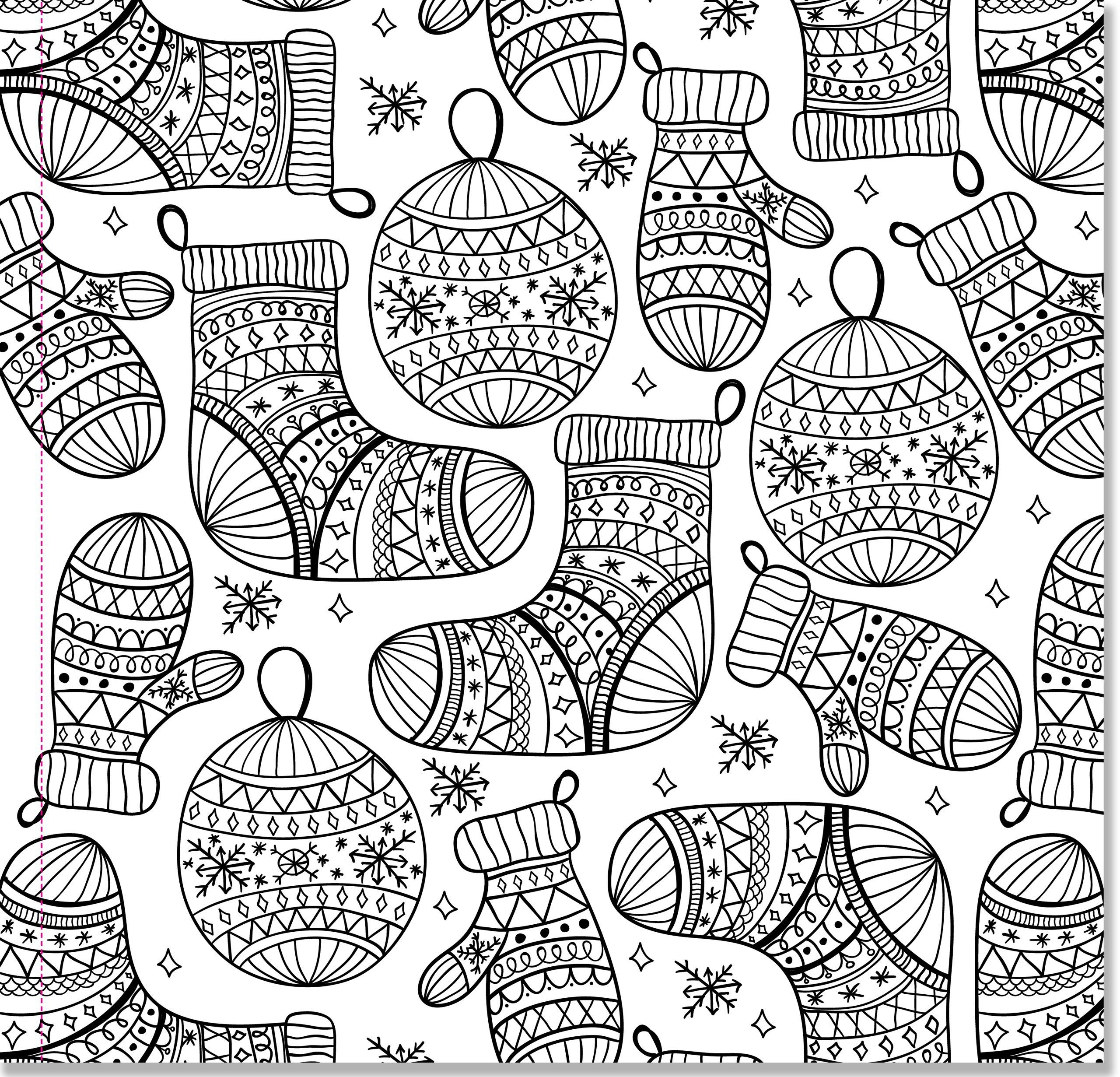 Christmas Detailed Coloring Pages With For Adults Printable To Print Free