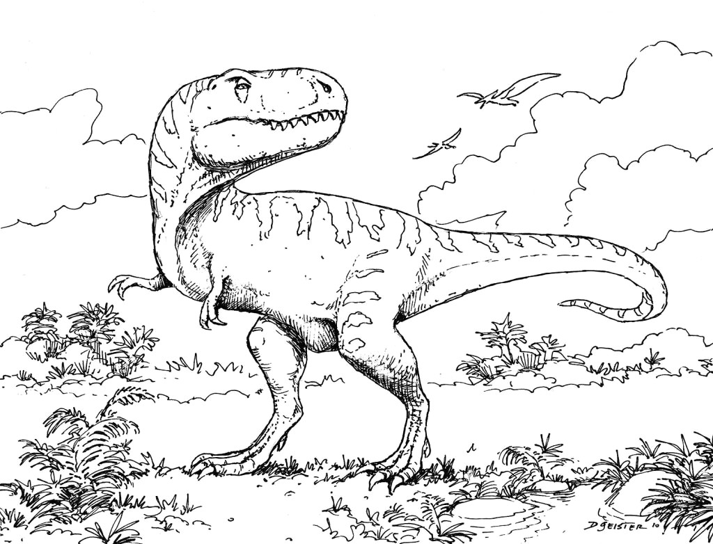 Christmas Dinosaur Coloring Pages With 40 Inside Classicoldsong Me