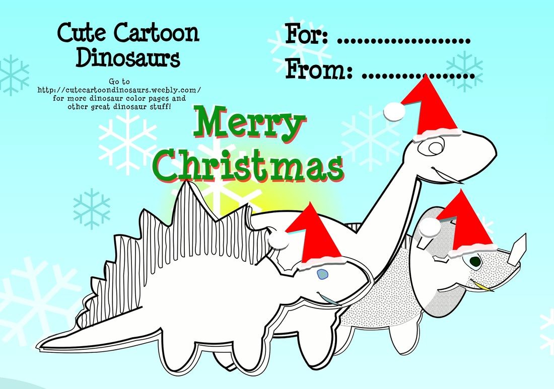 Christmas Dinosaur Coloring Pages With Cute Santa Dinosaurs Page Cartoon