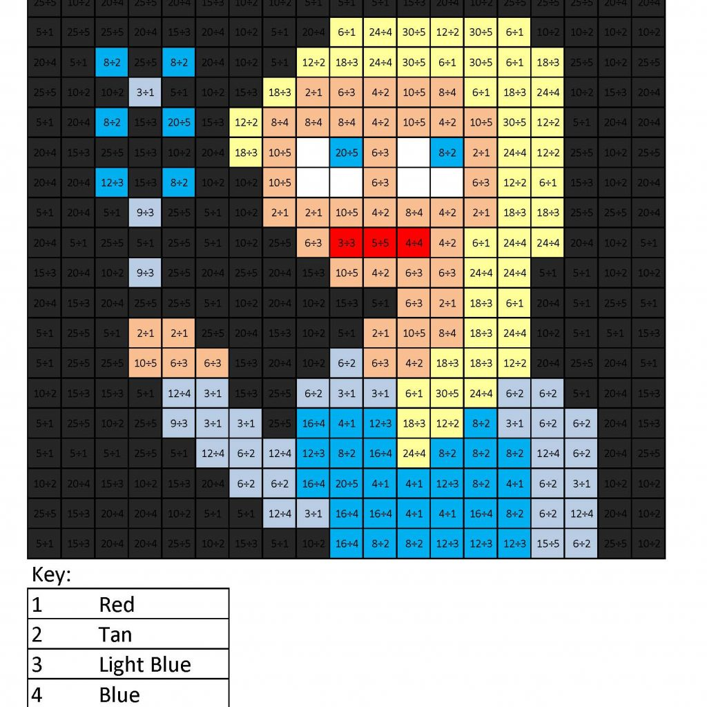 Christmas Division Coloring Sheets With Elsa Basic Squared