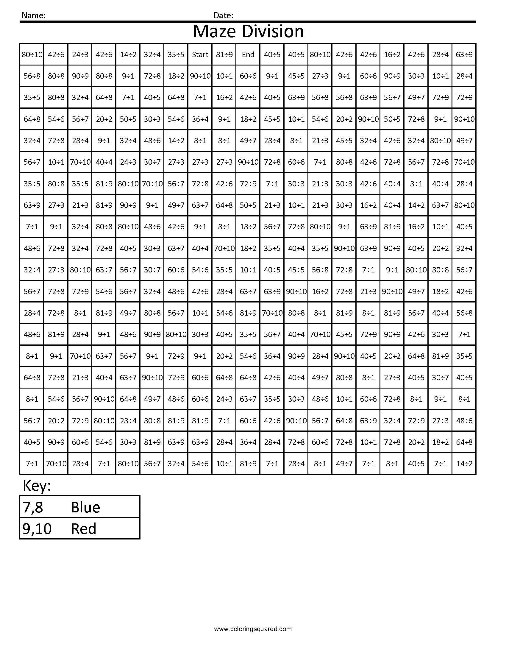 Christmas Division Coloring Worksheets With Decimal Maze Google Search Math Intervention
