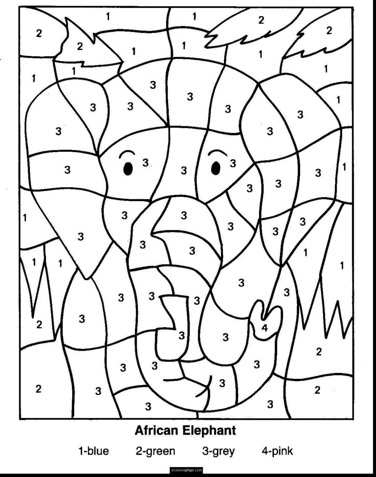 Christmas Division Coloring Worksheets With Pages Grade 1 Free