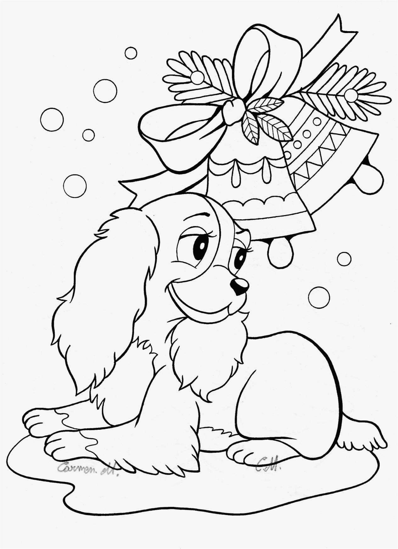 Christmas Dog Coloring Page With 26 New Free Printable Puppy Pages Professional Best
