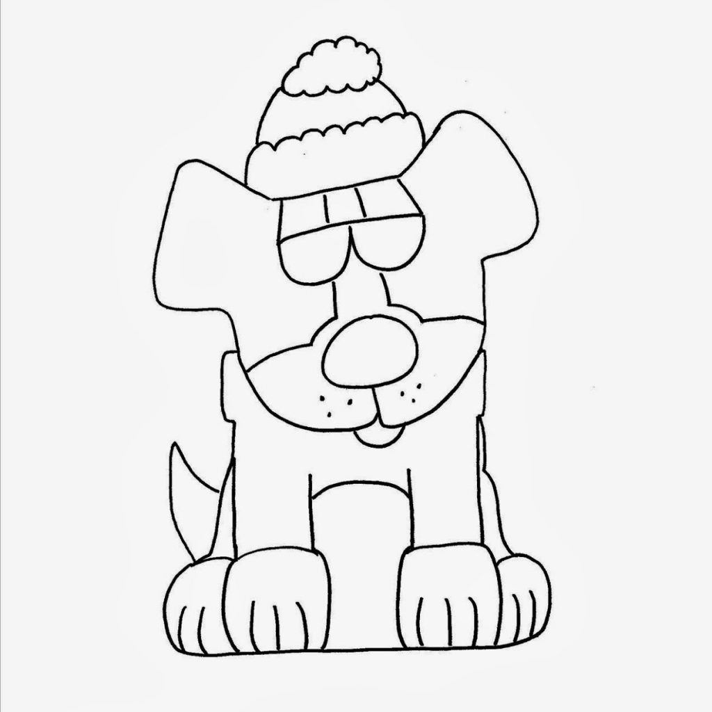Christmas Dog Coloring Page With Apex Lazy Blog Advent 2