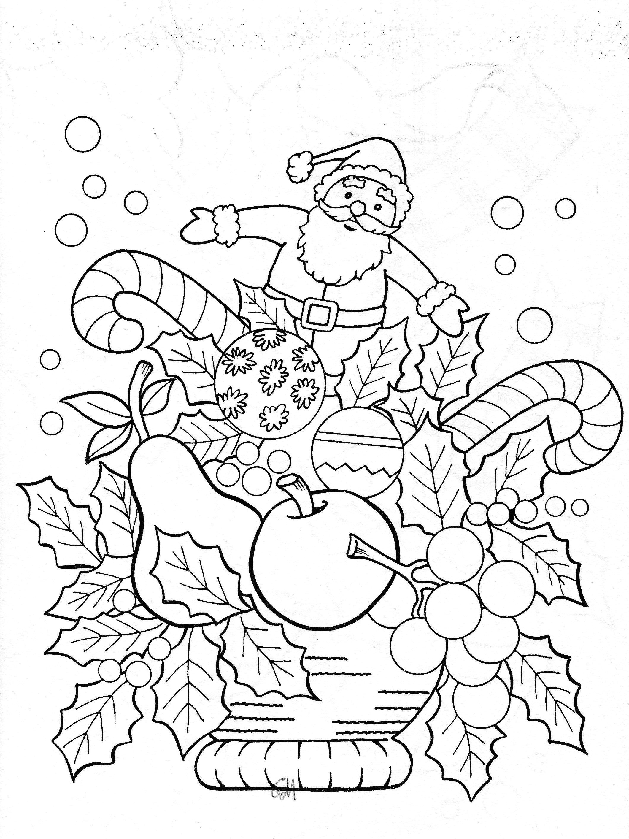 Christmas Dog Printable Coloring Pages With Animals Funny Page Cute