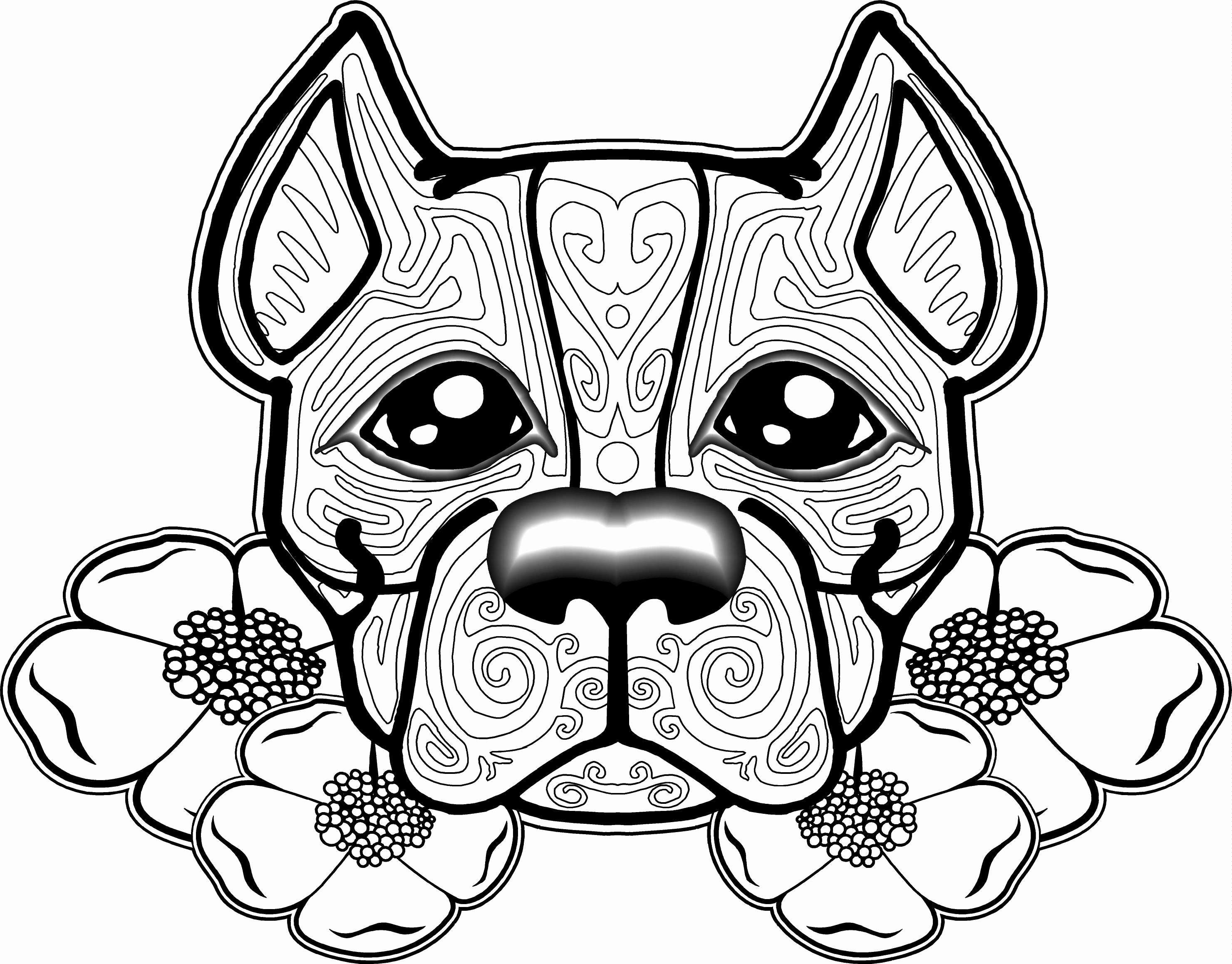 Christmas Dog Printable Coloring Pages With Dogs