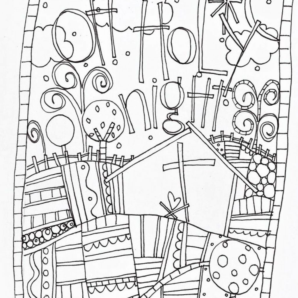Christmas Doodle Coloring Pages With Adults Printable Art Free Page B W Pinterest