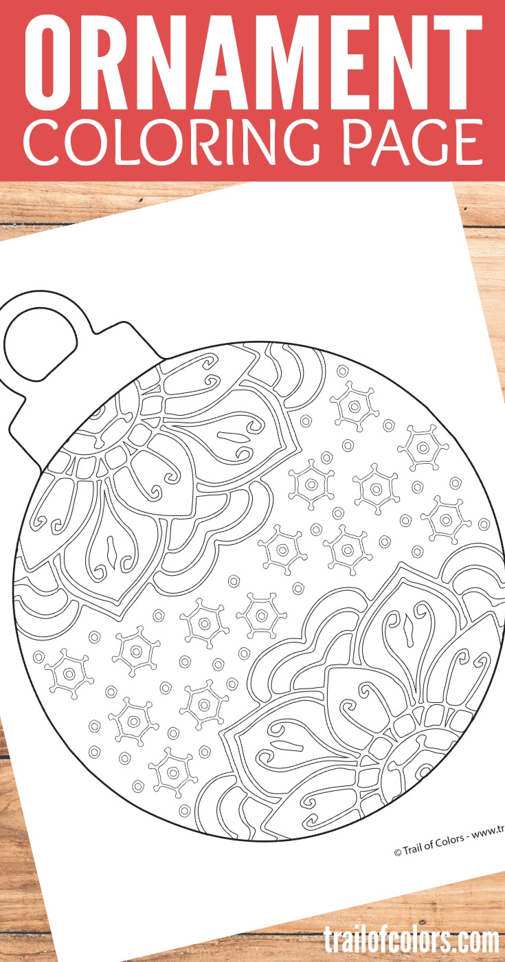 Christmas Doodle Coloring Pages With Ornament Page Trail Of Colors