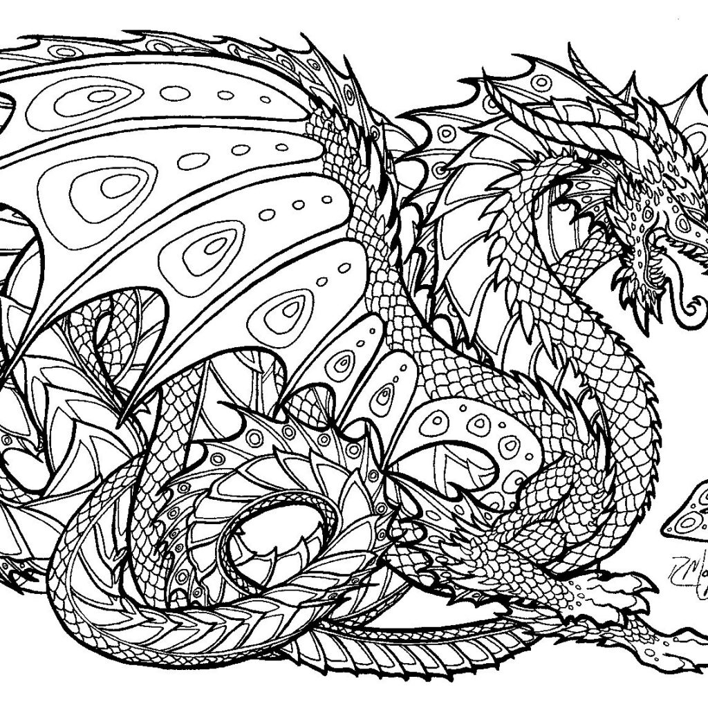 Christmas Dragon Coloring Pages With Free Printable For Adults Advanced Dragons Google