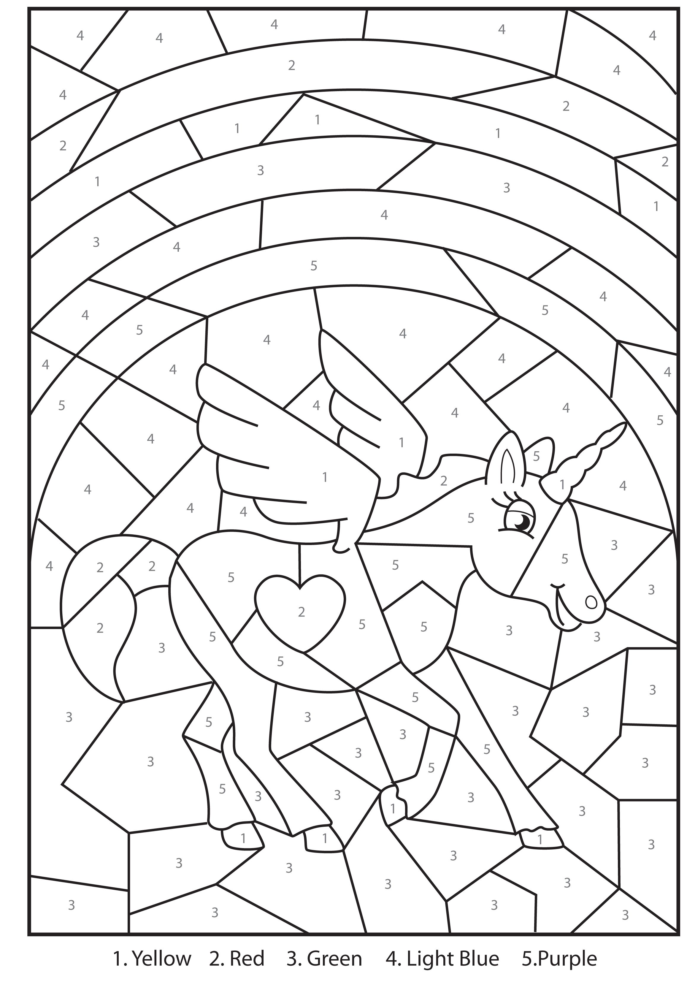 Christmas Educational Coloring Pages With Colour By Numbers New Calendar Template Site Letter U