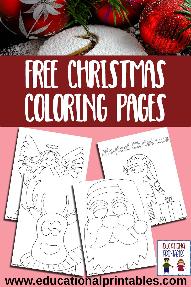 Christmas Educational Coloring Pages With Free All