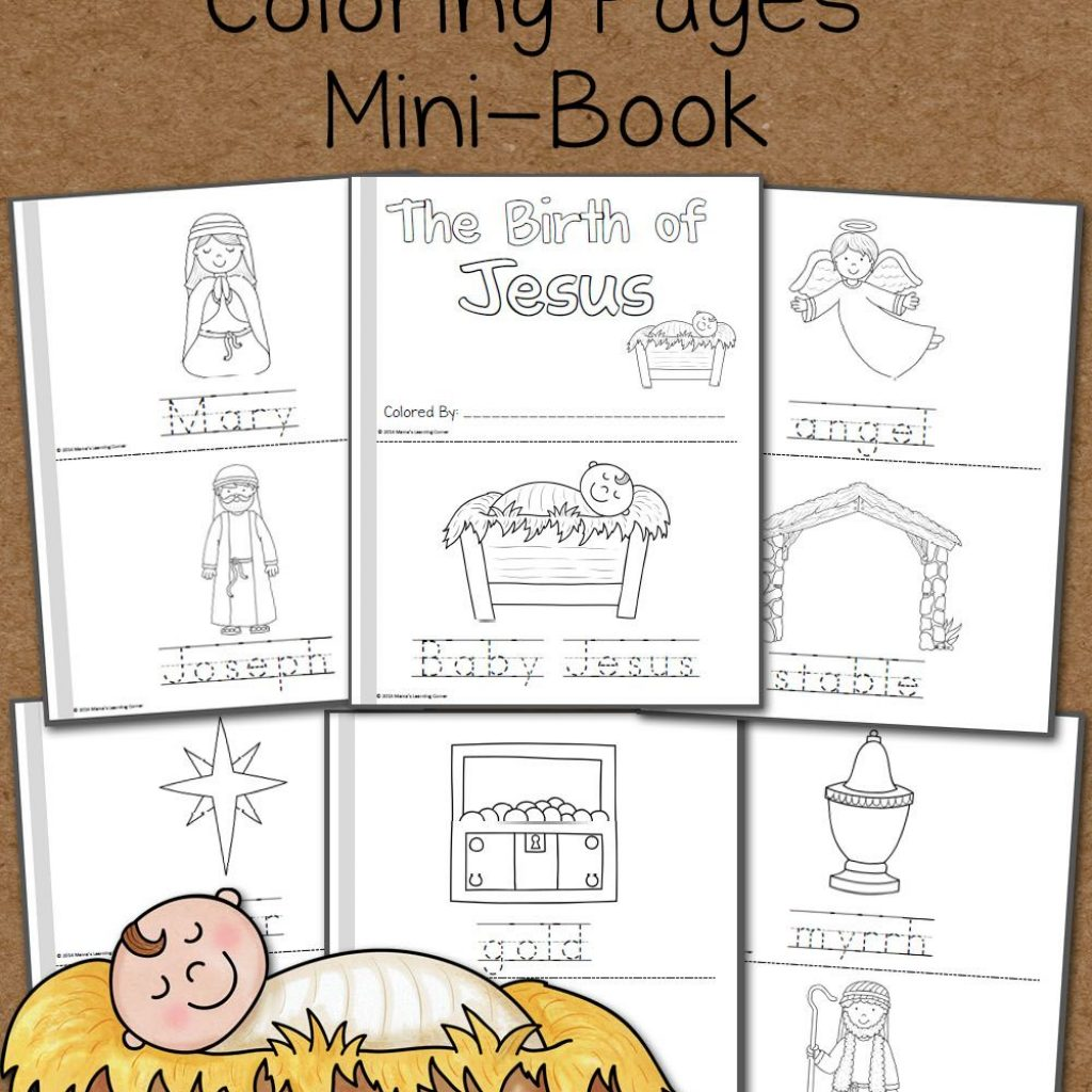 Christmas Educational Coloring Pages With Nativity Ideas Pinterest
