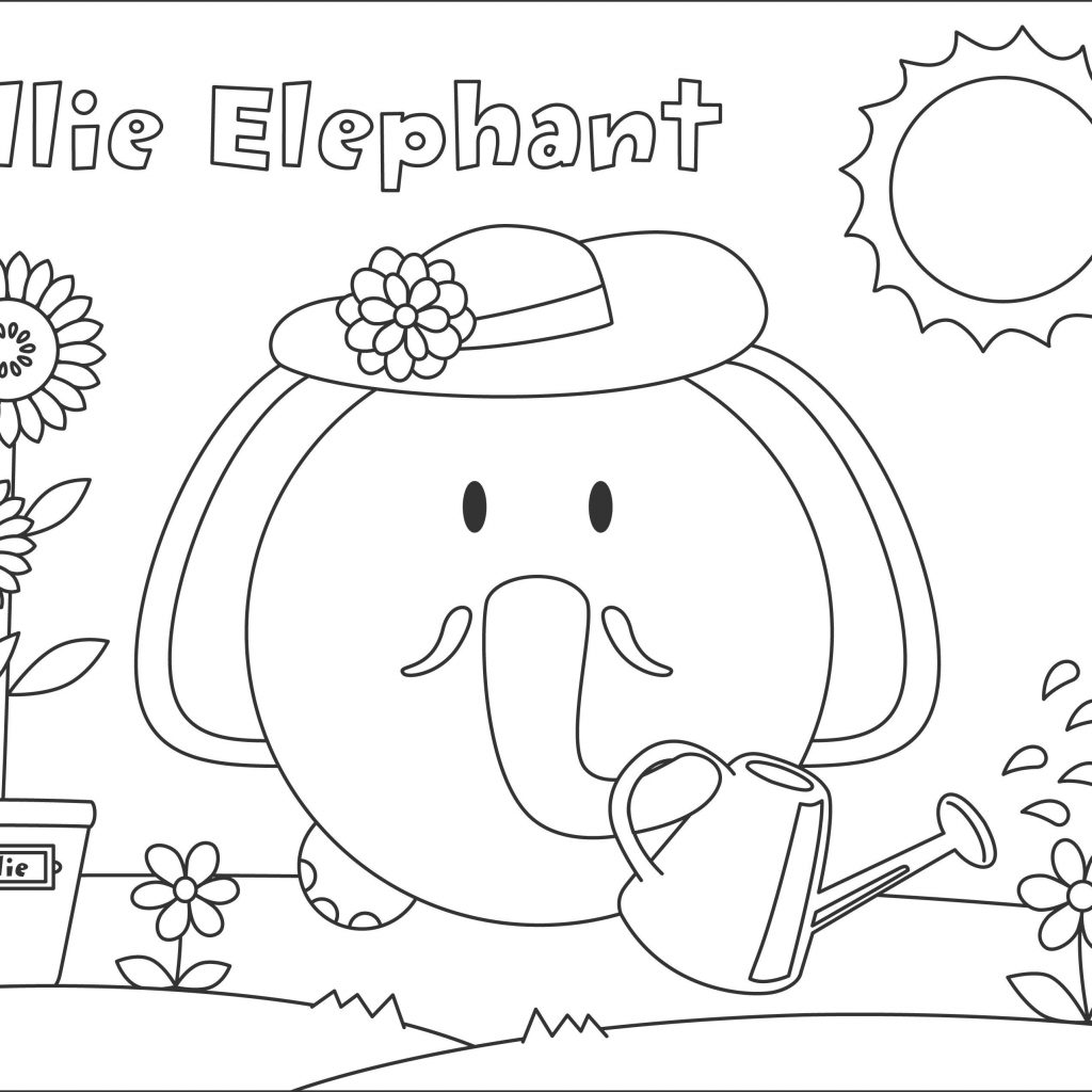 Christmas Elephant Coloring Pages With Daily Alphabet Fresh