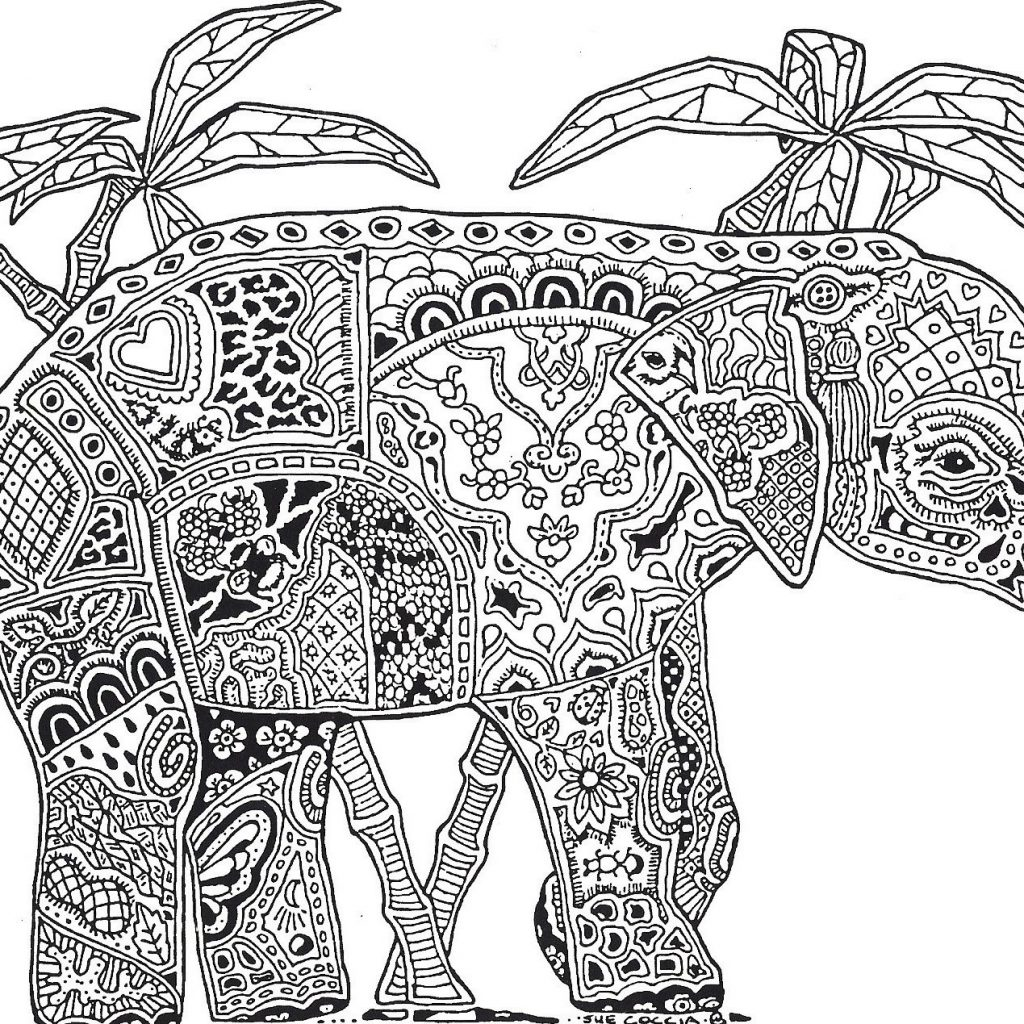 Christmas Elephant Coloring Pages With Dr Odd