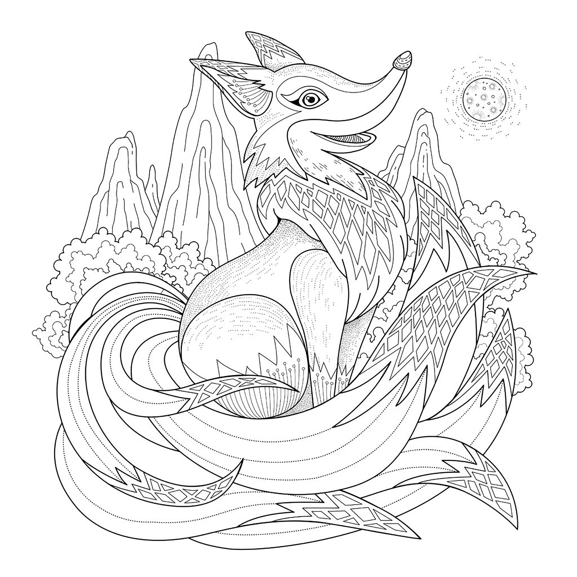 Christmas Elephant Coloring Pages With Graceful Fox Page In Exquisite StyleFrom The Gallery 2016