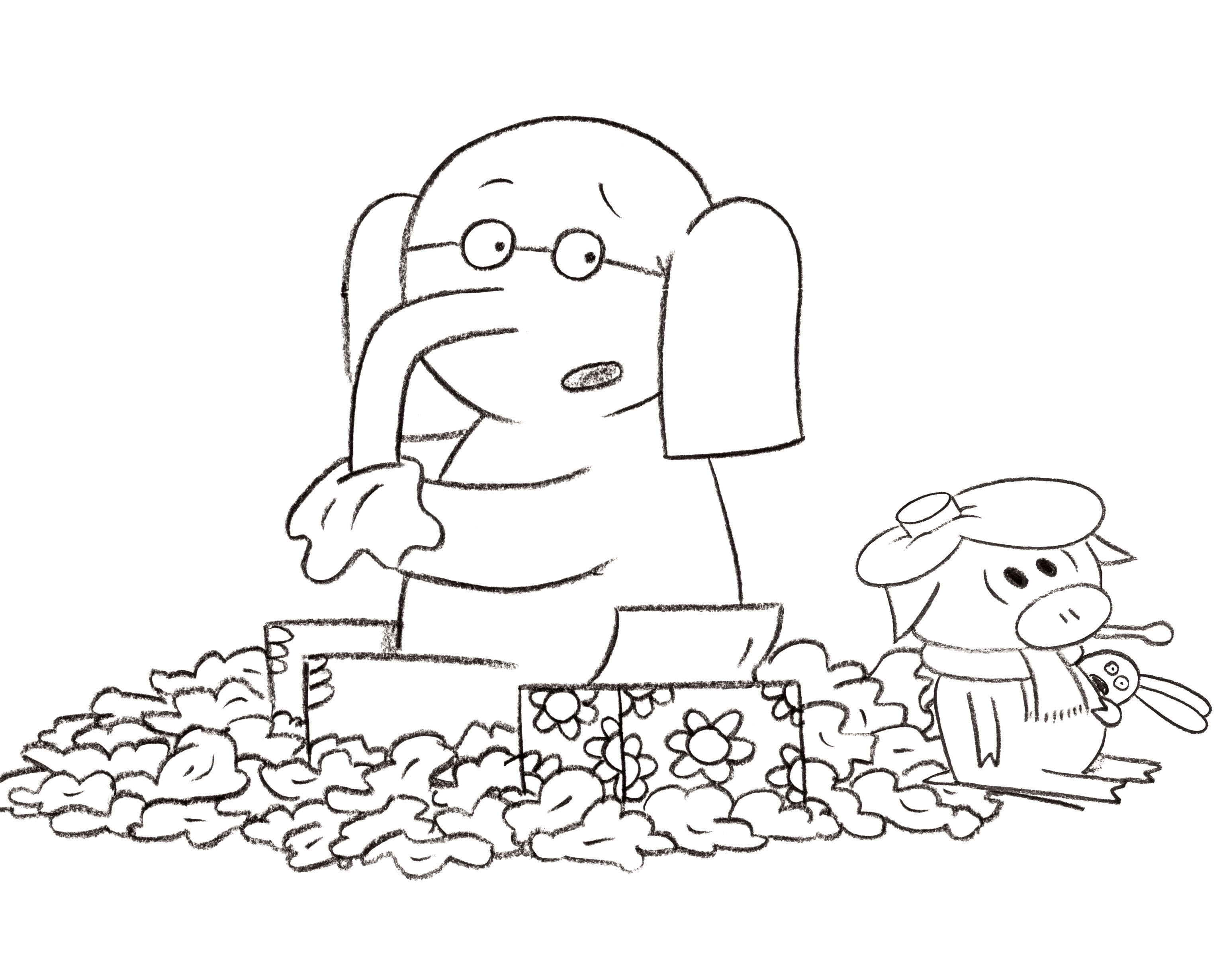 Christmas Elephant Coloring Pages With Ninjago Santa Page H M Intended