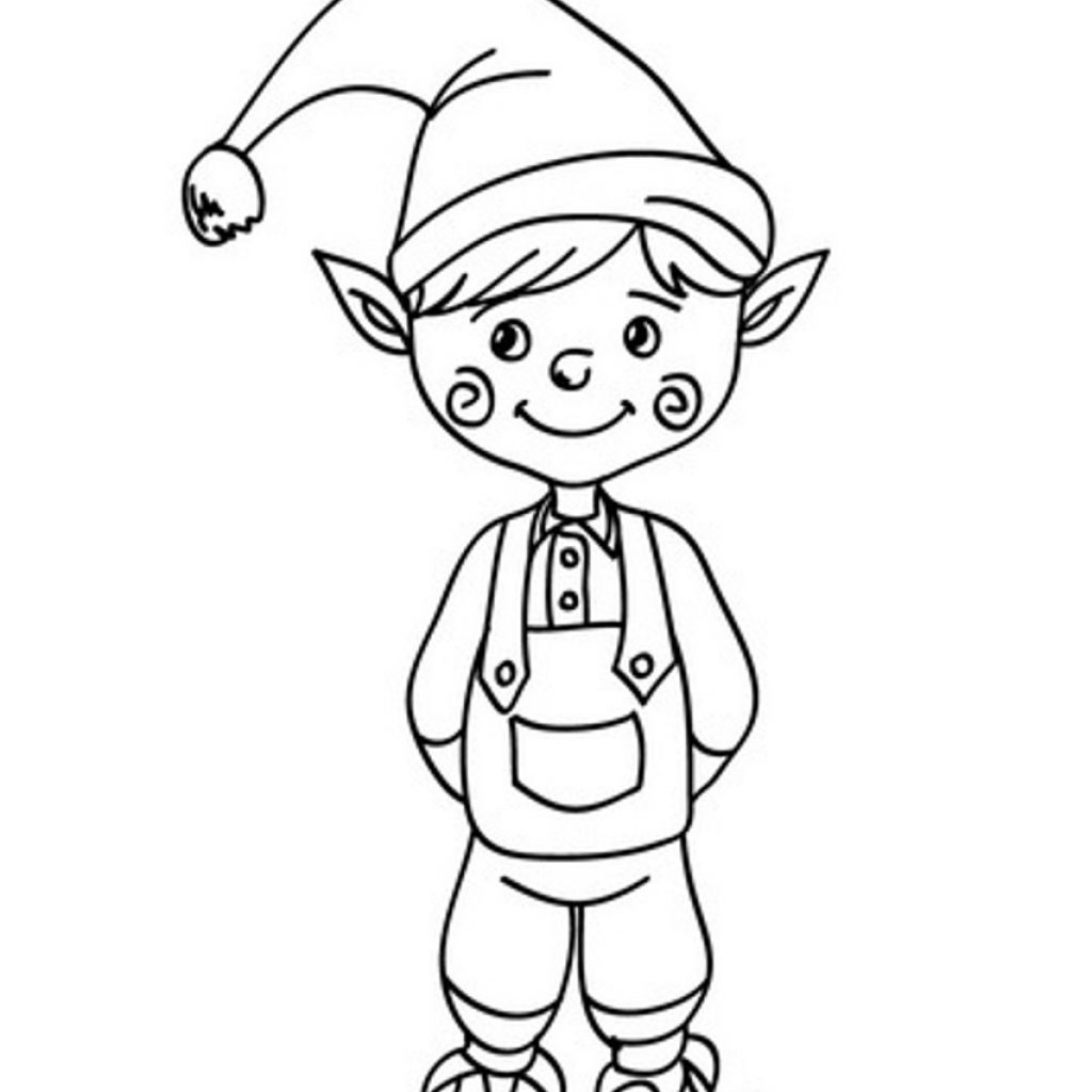 Christmas Elf Coloring Pages For Adults With Free Printable Kids