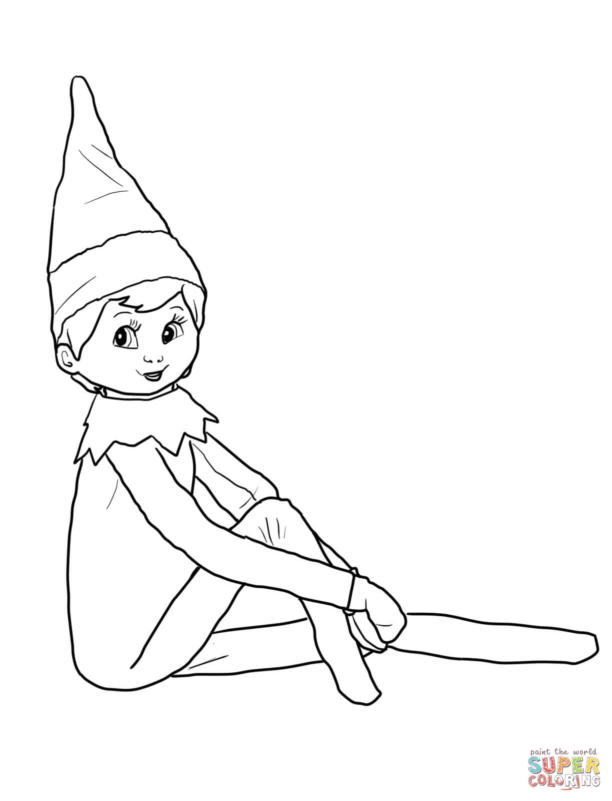 Christmas Elf Coloring Pages For Adults With Printable Free Books