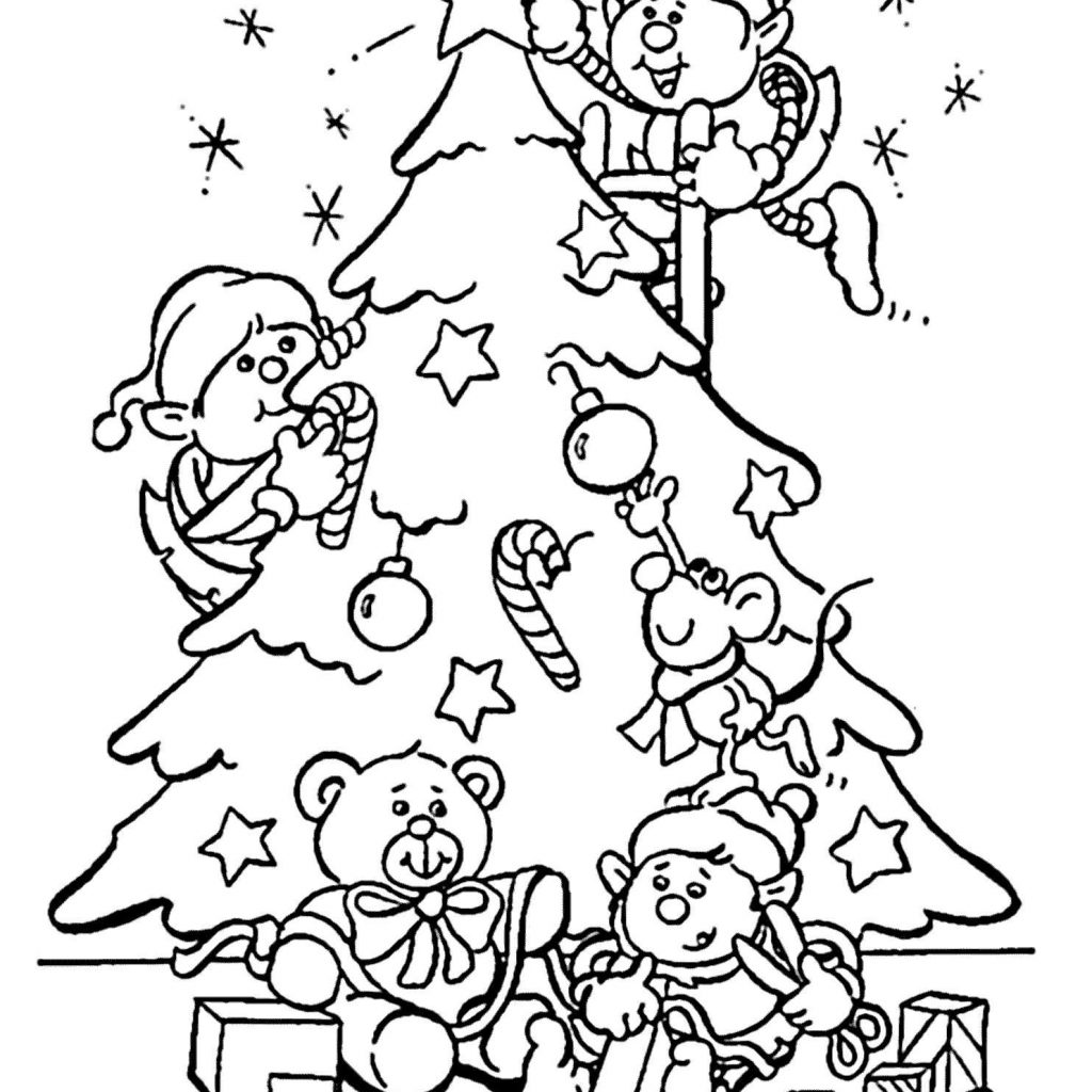 Christmas Elf Coloring Pages Free With Vector Stlatinband Com