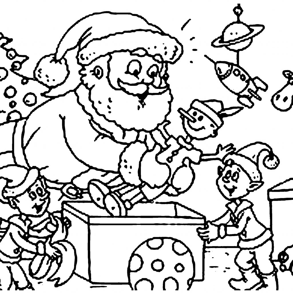 Christmas Elf Coloring Pictures With Pages Printable Free Books