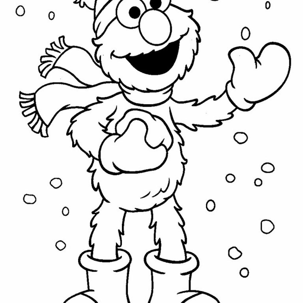 Christmas Elmo Coloring Pages With 3 37536