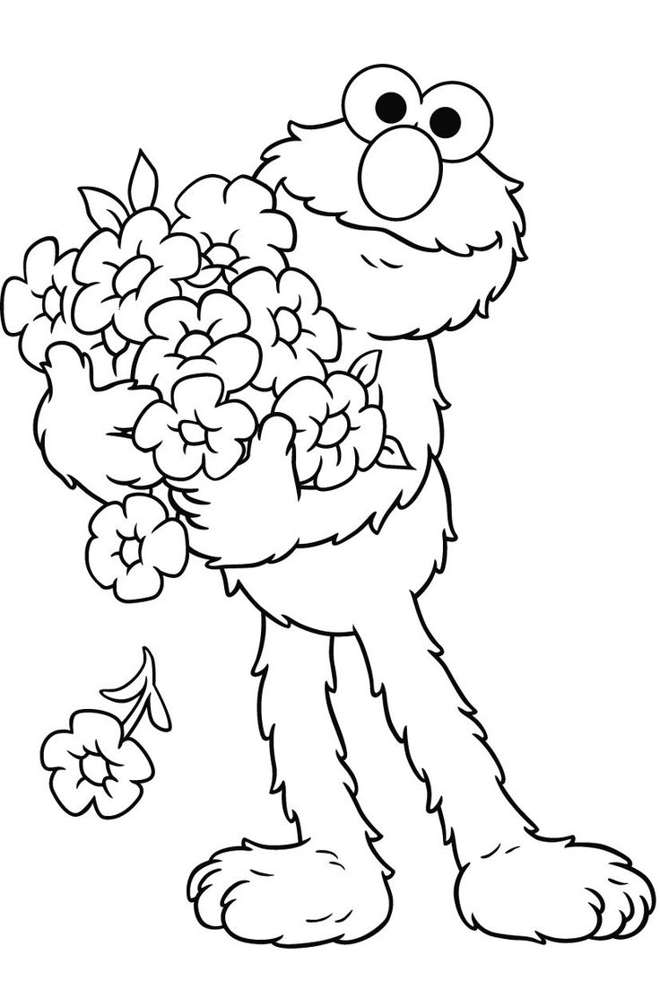 Christmas Elmo Coloring Pages With Baby Page Free Sesame Street At Napisy Me