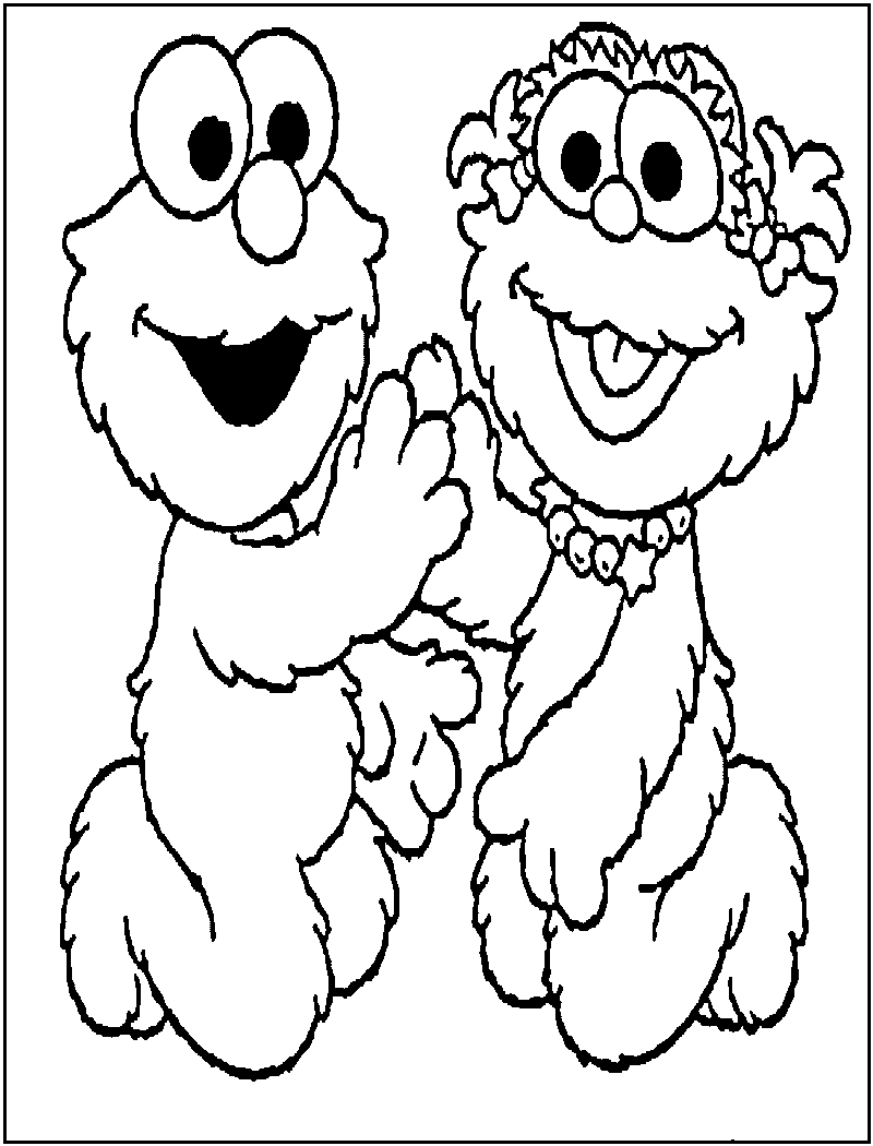 Christmas Elmo Coloring Pages With Free Printable For Kids