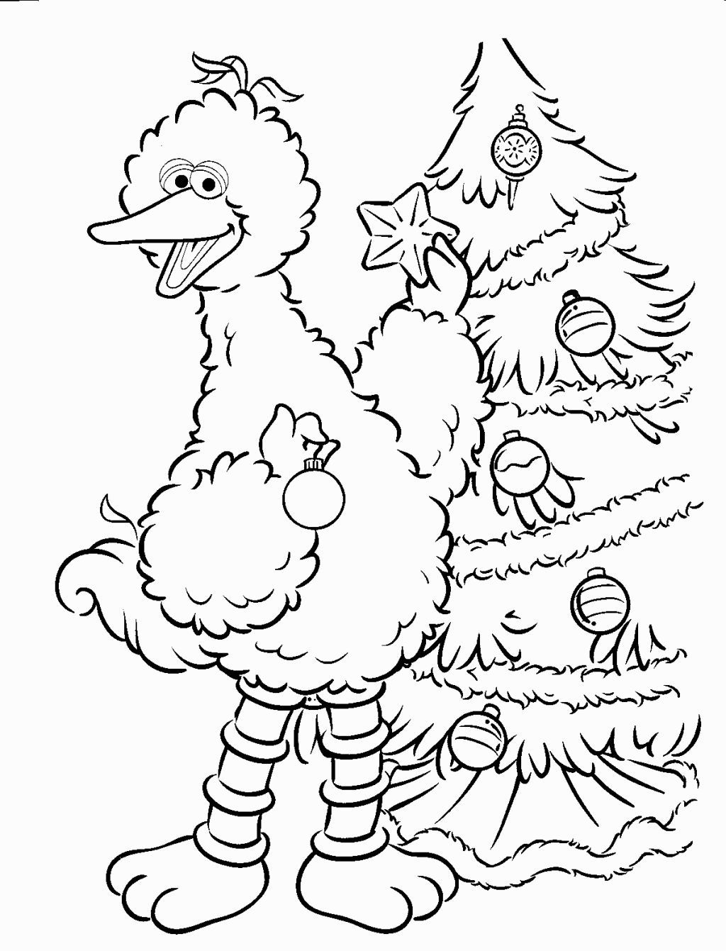 Christmas Elmo Coloring Pages With Sesame Street Sheets Pinterest