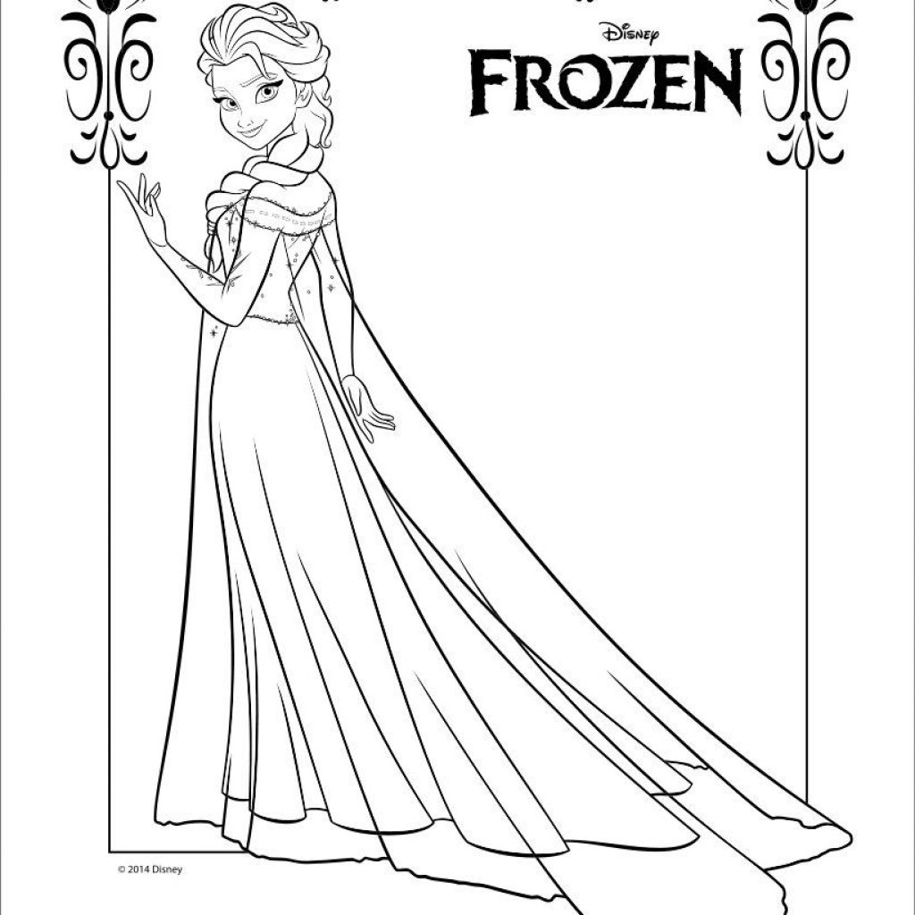 Christmas Elsa Coloring With Frozen Pages For Fun Pinterest Craft