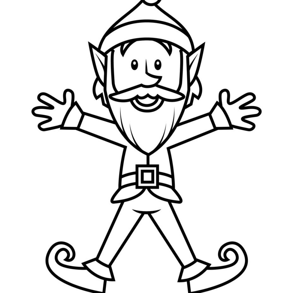 Christmas Elves Coloring Pages To Print With Girl Elf Page 1 453 Free Printable