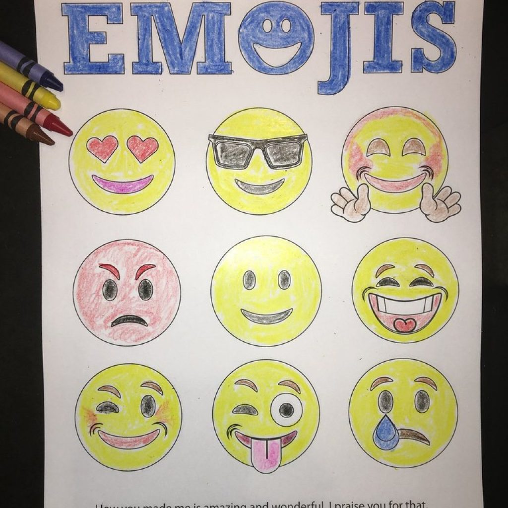 Christmas Emoji Coloring Pages With Emojis Bible Verse Page Children S Ministry Deals
